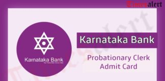 Karnataka Bank Probationary Clerk