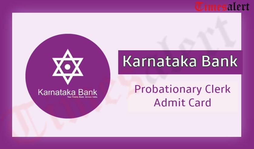 Karnataka Bank Probationary Clerk