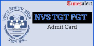 TGT PGT Admit Card