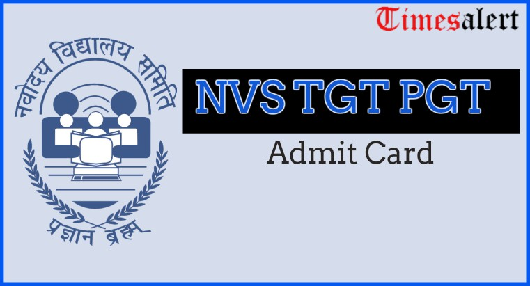 Navodaya Vidyalaya TGT PGT Admit Card