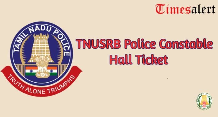 TNUSRB Police Constable Hall Ticket