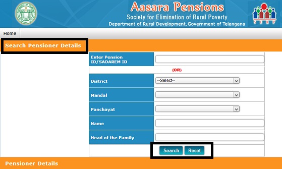 TS New Aasara Pension Scheme