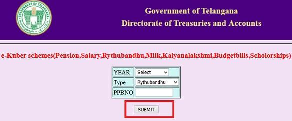 TS Treasury Rythu Bandhu
