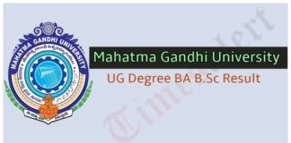 Mahatma Gandhi University Result