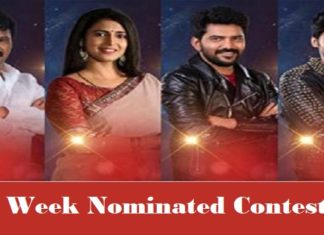 8th Week Nominated Contestants