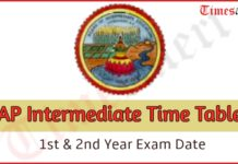AP Intermediate Time Table 2020
