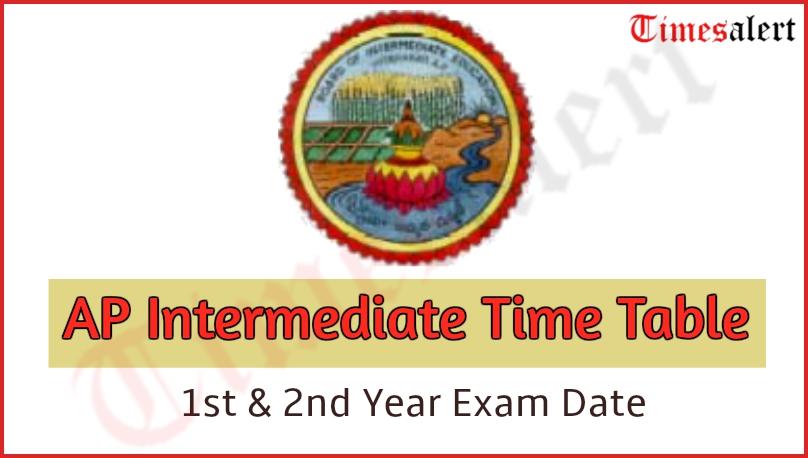 AP Intermediate Time Table 2020