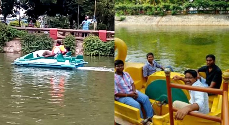 Boating in shilparamam