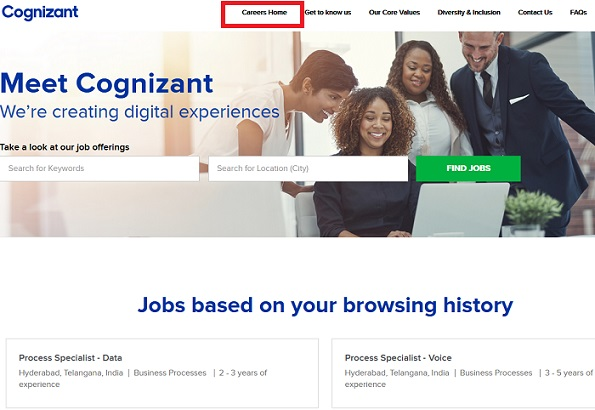Cognizant Registration Freshers
