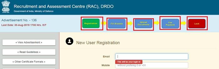 DRDO Scholarship documents