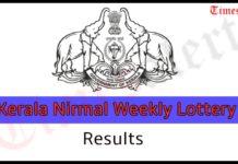 Kerala Nirmal Weekly Lottery