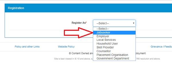 NCS Registration jobseeker