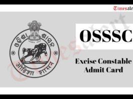 OSSSC Admit Card