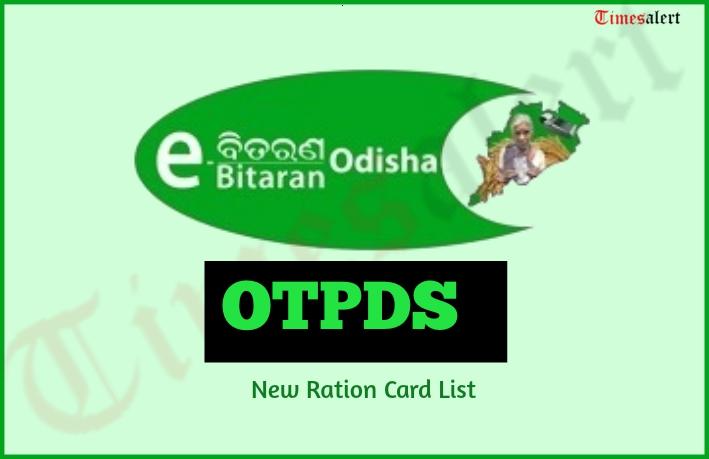 OTPDS Odisha Ration Card