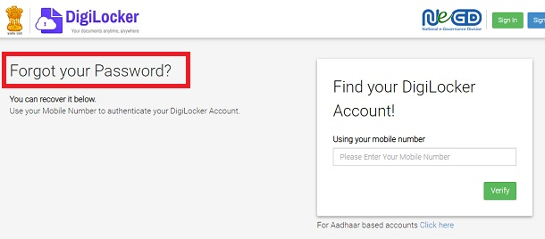 Upload Documents Digilocker