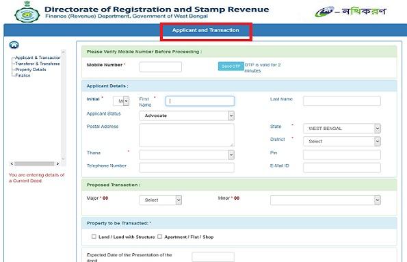 West Bengal Property Registration