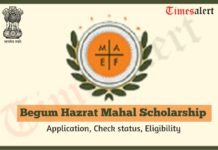 Begum Hazrat Mahal National Scholarship