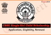 CBSE Single Girl Child Free Education