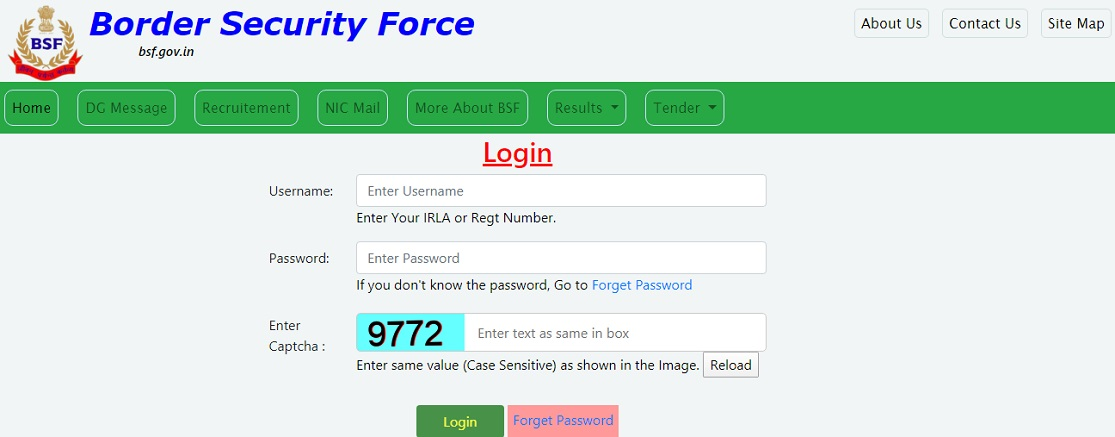 BSF Pay Slip Login