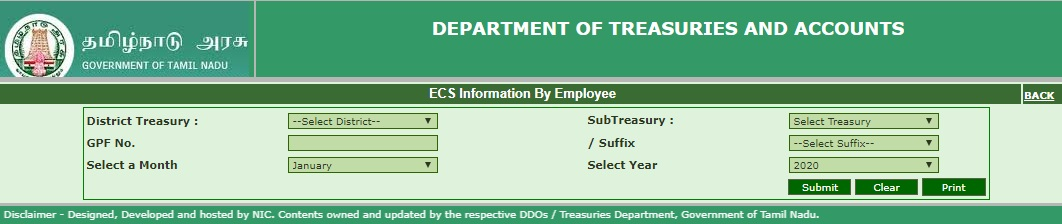 TN Treasury ECS status