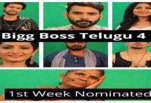 Bigg Boss Telugu 4 - 1st Week NominatedContestants