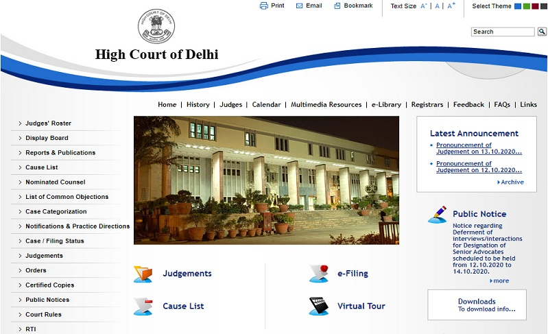 Delhi High Court Portal