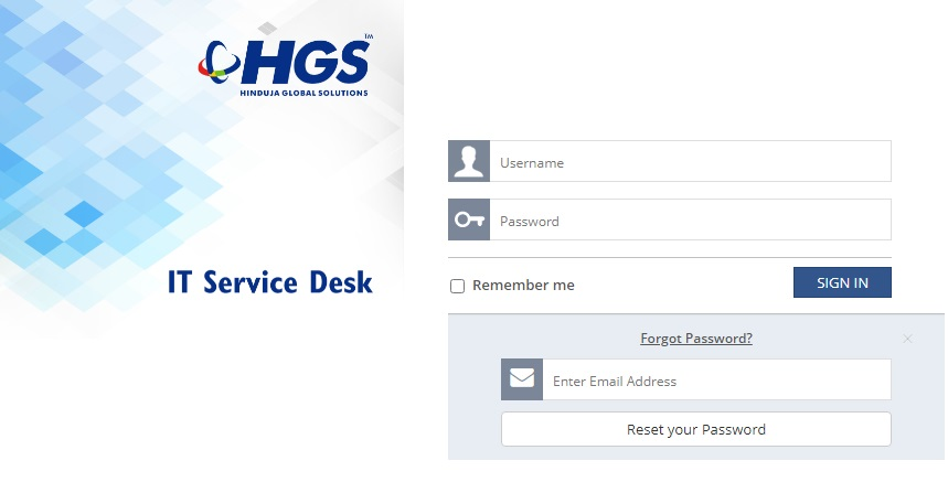 Reset HGS Payslip Password