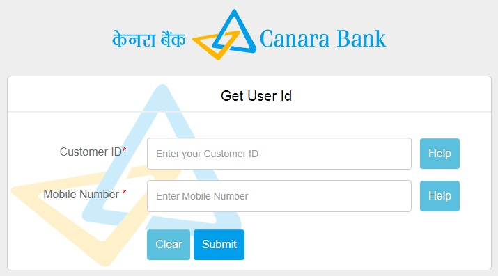 Canara Bank Customer ID