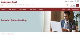 IndusInd Net Banking