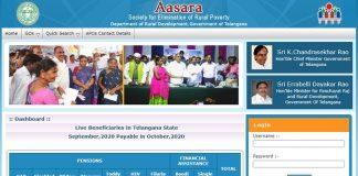 TS Aasara Pension Scheme
