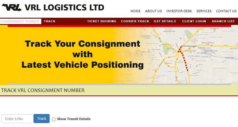 VRL Logistics Track