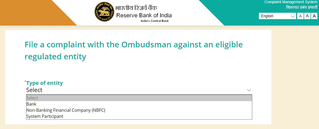 file a complaint at Ombudsman