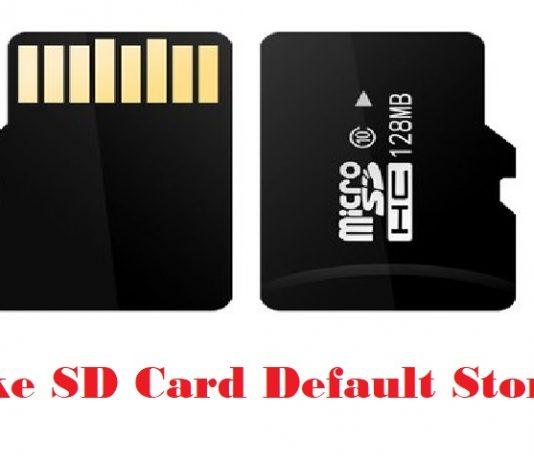 SD Card Default Storage