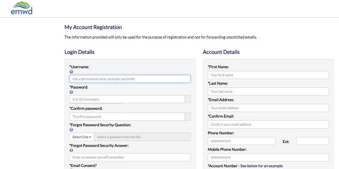 Emed Register Account